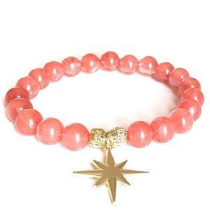 Jewelry - Watermelon Tourmaline Gemstone Bead Bracelet
